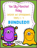 4 Differentiate Order of Operations Silly Monster Relay!