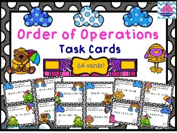 Order of Operations Task Card