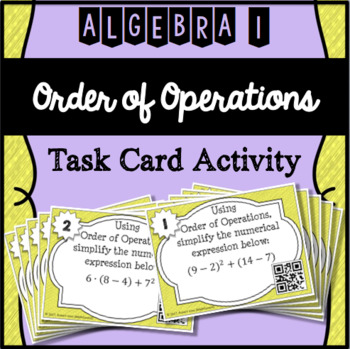 Order of Operations Task Card Activity