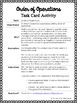 Order of Operations Task Card Activity (COLOR)