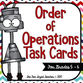Order of Operations Task Card Center
