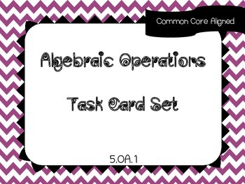 Order of Operations Task Card Set