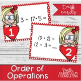 Order of Operations Task Cards (Including Exponents)
