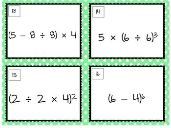 Order of Operations Task Cards!
