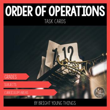 Order of Operations Task Cards ( BODMAS, BOMDAS, PEMDAS ) #endoftermparty