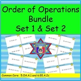 Order of Operations Task Cards Bundle