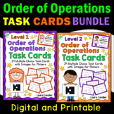 Order of Operations Task Cards Bundle (Printable and with