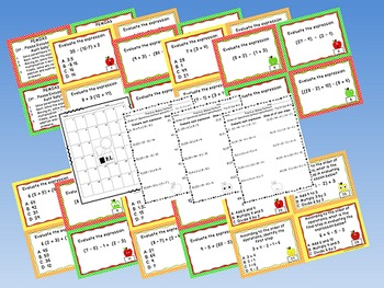 Order of Operations Task Cards Bundle - (The Math Files Series)