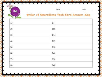 Order of Operations Task Cards (CCSS 5.OA.1)