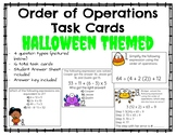 Order of Operations Task Cards- Halloween Themed