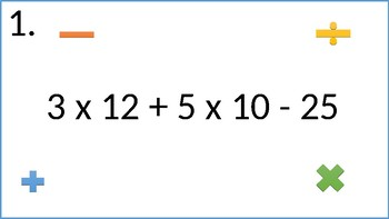 Order of Operations Task Cards (MAS) EDITABLE