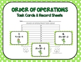 Order of Operations Task Cards St. Patrick's Day