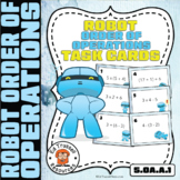 Order of Operations Task Cards Robots