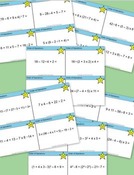 Order of Operations Task Cards Set 2