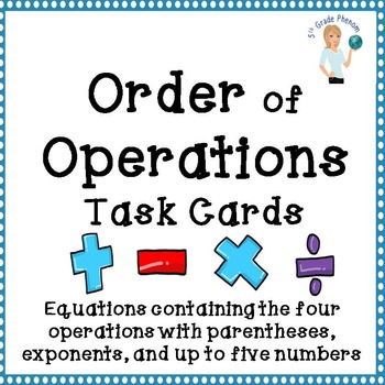Order of Operations Task Cards Set 3