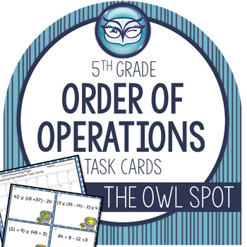 Order of Operations Task Cards Test Prep