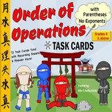 Order of Operations Task Cards {With Parentheses, No Exponents}