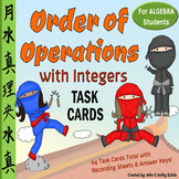 Order of Operations Task Cards for Algebra Students {With Integers}