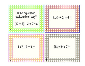 Order of Operations Task/SCOOT Cards!