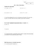 Order of Operations Tests w/ Word Problems (2 Forms + 2 Mo