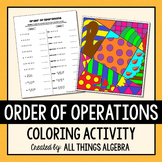 Order of Operations Coloring Activity