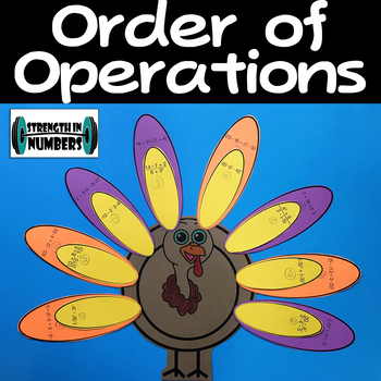 Order of Operations Thanksgiving Turkey Cooperative Puzzle/Activity
