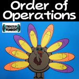 Order of Operations Thanksgiving Big Turkey Cooperative Activity