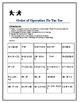 Order of Operations Tic Tac Toe