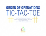 Order of Operations - Tic Tac Toe Partner Activity