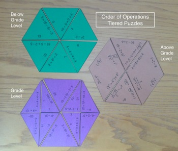 Order of Operations Tiered Puzzles