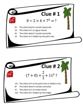 Order of Operations Treasure Hunt