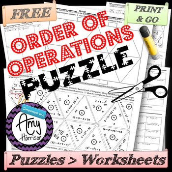 image relating to Free Printable Order of Operations Worksheets known as Free of charge Get Of Functions Worksheets Academics Pay out Lecturers