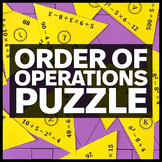 Order of Operations Triangle Matching Puzzle - No Parentheses or Fractions