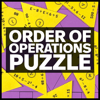 Order of Operations Triangle Matching Puzzle - No Parenthe