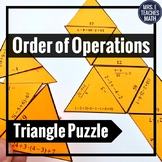 Order of Operations Triangle Puzzle