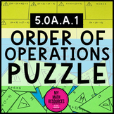 5.OA.A.1 Order of Operations Puzzle - Fun Math Activity - Distance Learning