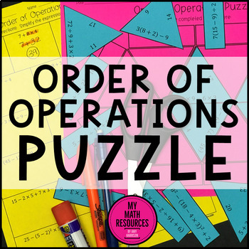 Order of Operations Triangle Puzzle - CCSS 6.EE.A.1