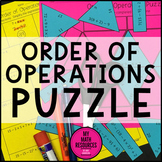 6.EE.A.1 Order of Operations Puzzle - Fun Math Activity - Distance Learning