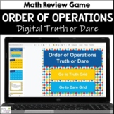 Order of Operations Truth or Dare Math Game for Google Classroom|Slides