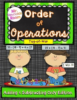 Order of Operations Game {Addition and Subtraction Only}
