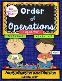 Order of Operations Math Center Game - Multiplication and