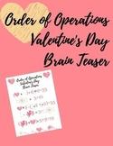 Order of Operations Valentine's Day Math Brainteaser