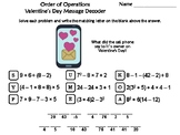 Order of Operations Valentine's Day Math Activity: Message Decoder