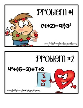 Order of Operations Valentine's Day Hunt