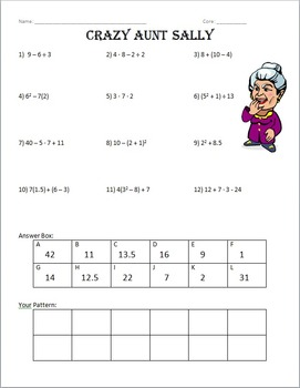 Order of Operations Versatile Page **FREEBIE** by Amy ...