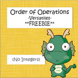 Order of Operations Versatile Page **FREEBIE**