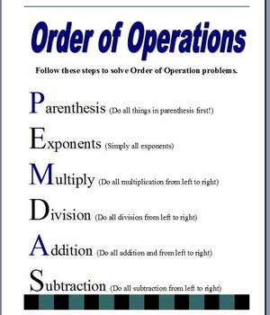 Order of Operations Visual