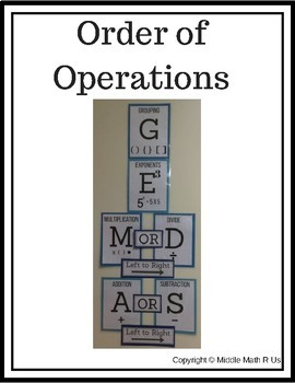 Order of Operations (Wall Display)