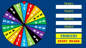Order of Operations Wheel of Knowledge Powerpoint Game