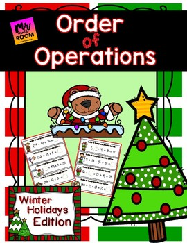 Order of Operations Math Center: Winter Holidays Edition
